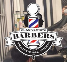 Black & White Barbers logo